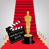 Oscar on Red carpet — Stock Photo