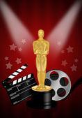 Oscar statuette — Stock Photo