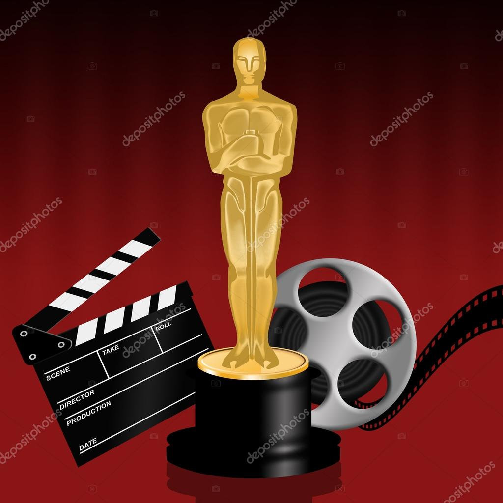 Stock Photo Oscar Statuette on oscar statuette clip art