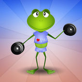 Frog doing fitness — Stock Photo