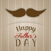 Father's Day with mustache postcard — Stock Photo
