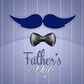 Father's Day with mustache postcard — Foto de Stock