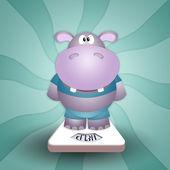 Hippo on scale — Stock Photo