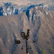Stock Photo: Rooster weathervane