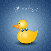 Duck toy for boy for birth — Stock Photo