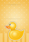 Yellow Duck toy — Stock Photo