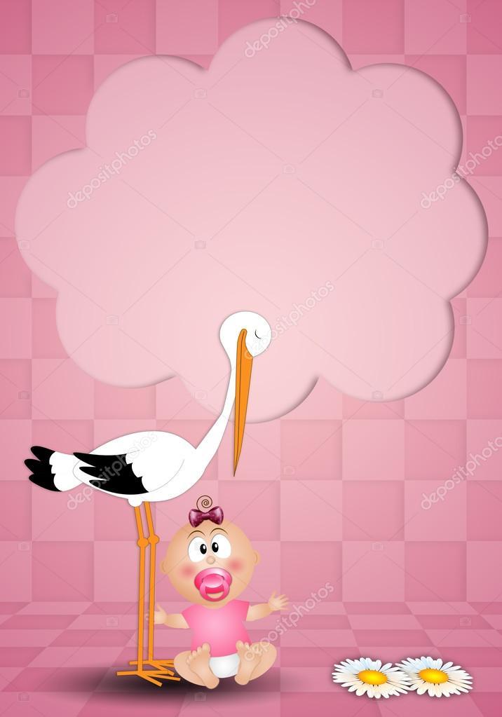 картинки с новорожденным с аистом