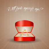 Propose of marriage — Stock Photo