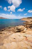 Ftelia beach in Mykonos city, Greece — Stock Photo