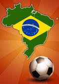 Soccer world cup in Brazil — Stock Photo