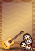 Guitar and maracas — Stock Photo