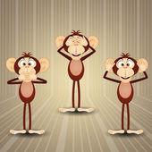 The three wise monkeys — Stock Photo