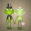 Frog just married — Stock Photo #48456079