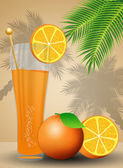 Orange juice for summertime — Stock Photo