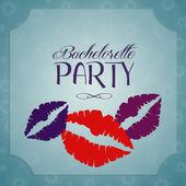 Bachelorette party invitation — Stock Photo