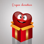 Funny Heart For Organ Donation — Stock Photo
