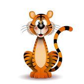 śmieszne tygrys — Zdjęcie stockowe
