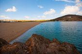 Ftelia beach in Mykonos — Stock Photo