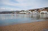 Mykonos port — Stock Photo
