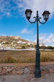 View of Mykonos city from Ano Mera — Foto Stock