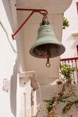 Bell in The monastery of Panagia Tourliani in Ano Mera, Mykonos — Stock Photo
