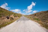 Una strada nella città di mykonos — Foto Stock