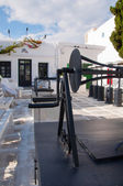 Tría Pigádia in Mykonos city — Stock Photo