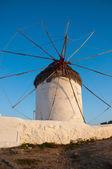 Windmills In Mykonos City — Stock Photo