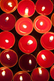 Red candles. View above. — Stock Photo