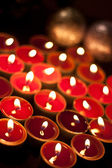 Candles burning in the dark. — Stock Photo