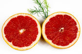 Grapefruit cross sectional — Stock Photo