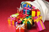 Christmas gifts bag.(horizontal) — Stock fotografie