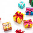 Many gifts on white background with copy space. — Stock Photo