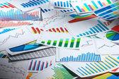 Many graphs. (horizontal) — Stock Photo