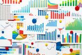 Many graphs and charts. — Stock Photo