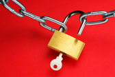 Unlocking padlock. — Stock Photo