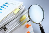 Investigate and analyze. — Stock Photo