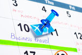 Scheduling a business travel. — Stock Photo