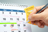 Planing a schedule. — Stockfoto