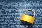 Security concept: Protection of personal information. — Stock Photo
