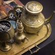 Stock Photo: Bronze teapot