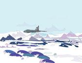 Arctic landscape — Stock Vector