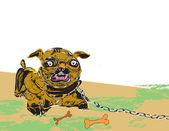 Monstrous dog — Stock Vector