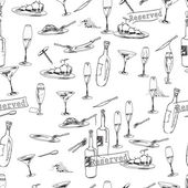 Wine bottles pattern — Stock Vector