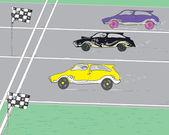 Bilar race — Stockvektor