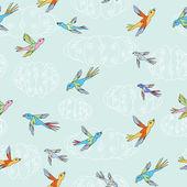 Birds flying — Stock Vector