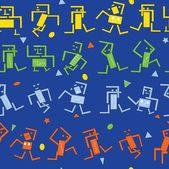 Dancing robots — Stock Vector