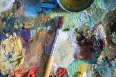 Painter pallete — Stockfoto