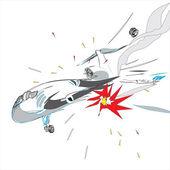 Plane crash — Stock Vector