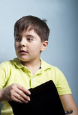 Boy with an absent gaze — Stock Photo